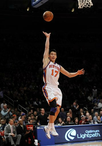 New York Knicks&#39; point guard Jeremy Lin &#40;17&#41; in action during an NBA basketball game against the Utah Jazz on Monday, Feb. 6, 2012, in New York. &#40;AP Photo&#47;Kathy Kmonicek&#41; <span class=meta>(AP Photo&#47; Kathy Kmonicek)</span>