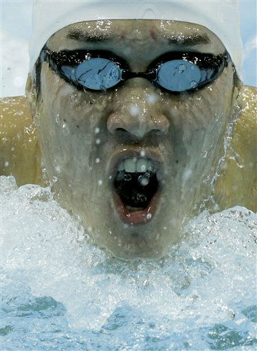 Japan&#39;s Yuki Kobori competes in a heat for the men&#39;s 200m butterfly during the British Swimming Championship selection trials and Olympic test event at the London 2012 Olympic Aquatics Centre at the Olympic Park in London, Monday, March 5, 2012.  A number of international swimmers have been invited to attend the championships and compete in guest finals.  &#40;AP Photo&#47;Matt Dunham&#41; <span class=meta>(AP Photo&#47; Matt Dunham)</span>