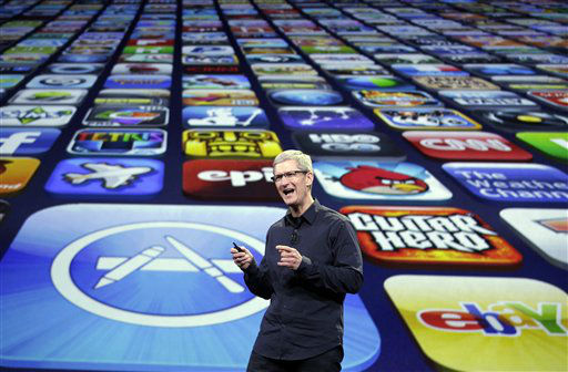 "<div class=""meta image-caption""><div class=""origin-logo origin-image ""><span></span></div><span class=""caption-text"">Apple CEO Tim Cook speaks during a product event in San Francisco, Wednesday, March 7, 2012. Apple is expected to reveal a new iPad model at Wednesday?s event in San Francisco.  (AP Photo/Paul Sakuma) (AP Photo/ Paul Sakuma)</span></div>"