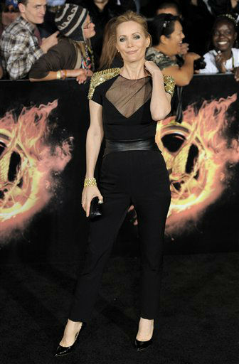 Leslie Mann arrives at the world premiere of &#34;The Hunger Games&#34; on Monday March 12, 2012 in Los Angeles. &#40;AP Photo&#47;Chris Pizzello&#41; <span class=meta>(AP Photo&#47; Chris Pizzello)</span>