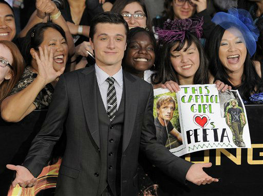 "<div class=""meta image-caption""><div class=""origin-logo origin-image ""><span></span></div><span class=""caption-text"">Josh Hutcherson arrives at the world premiere of ""The Hunger Games"" on Monday March 12, 2012 in Los Angeles. (AP Photo/Chris Pizzello) (AP Photo/ Chris Pizzello)</span></div>"