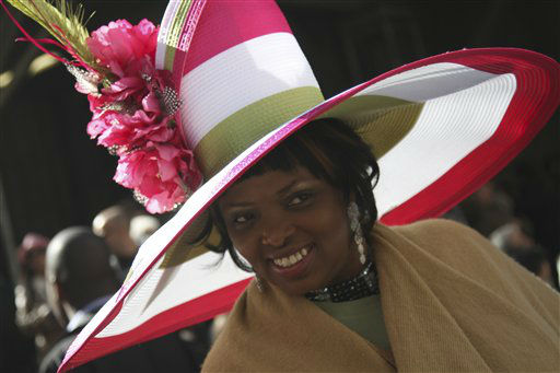 Harriet Rosebud smiles as she poses for photographers during the Easter Parade on Fifth Ave.,  Sunday, April 8, 2012 in New York. &#40;AP Photo&#47;Mary Altaffer&#41; <span class=meta>(AP Photo&#47; Mary Altaffer)</span>