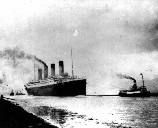 "<div class=""meta image-caption""><div class=""origin-logo origin-image ""><span></span></div><span class=""caption-text"">The Luxury liner Titanic departs Southampton, England, prior to her maiden Atlantic voyage on April 10, 1912.  (AP Photo) (AP Photo/ XMF XAG)</span></div>"