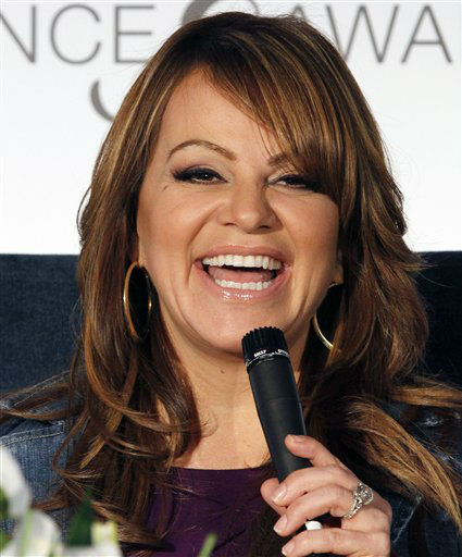 Singer Jenni Rivera laughs as she talks to a reporter in Miami, Wednesday, April 25, 2012. &#40;AP Photo&#47;Alan Diaz&#41; <span class=meta>(AP Photo&#47; Alan Diaz)</span>