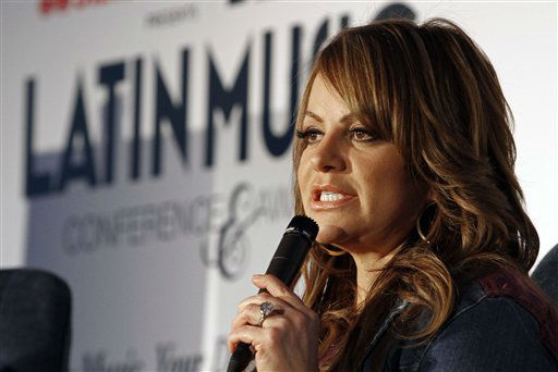 Singer Jenni Rivera talks to a reporter in Miami, Wednesday, April 25, 2012. &#40;AP Photo&#47;Alan Diaz&#41; <span class=meta>(AP Photo&#47; Alan Diaz)</span>