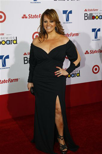 "<div class=""meta ""><span class=""caption-text "">Singer Jenni Rivera walks the red carpet at the Latin Billboard Awards in Coral Gables, Fla. Thursday, April 26, 2012.  (AP Photo/Wilfredo Lee) (AP Photo/ Wilfredo Lee)</span></div>"