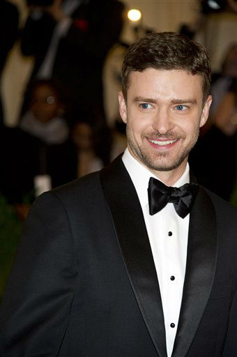 "<div class=""meta image-caption""><div class=""origin-logo origin-image ""><span></span></div><span class=""caption-text"">Justin Timberlake arrives at the Metropolitan Museum of Art Costume Institute gala benefit, celebrating Elsa Schiaparelli and Miuccia Prada, Monday, May 7, 2012 in New York. (AP Photo/Charles Sykes) (AP Photo/ Charles Sykes)</span></div>"