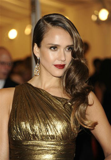 Jessica Alba arrives at the Metropolitan Museum of Art Costume Institute gala benefit, celebrating Elsa Schiaparelli and Miuccia Prada, Monday, May 7, 2012 in New York. &#40;AP Photo&#47;Evan Agostini&#41; <span class=meta>(AP Photo&#47; Evan Agostini)</span>