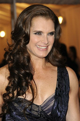 Brooke Shields arrives at the Metropolitan Museum of Art Costume Institute gala benefit, celebrating Elsa Schiaparelli and Miuccia Prada, Monday, May 7, 2012 in New York. &#40;AP Photo&#47;Evan Agostini&#41; <span class=meta>(AP Photo&#47; Evan Agostini)</span>