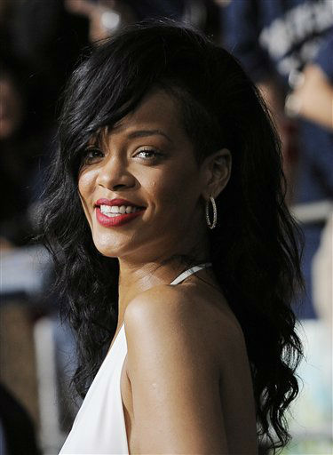 Rihanna, a cast member in &#34;Battleship,&#34; poses at the American premiere of the film, Thursday, May 10, 2012, in Los Angeles. The film is released in theaters on May 18. &#40;AP Photo&#47;Chris Pizzello&#41; <span class=meta>(AP Photo&#47; Chris Pizzello)</span>