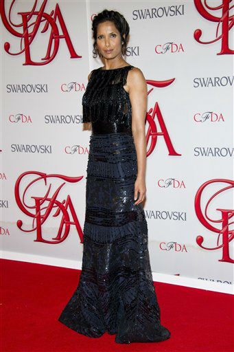 "<div class=""meta image-caption""><div class=""origin-logo origin-image ""><span></span></div><span class=""caption-text"">Padma Lakshmi arrives at the CFDA Fashion Awards on Monday, June 4, 2012 in New York. (Photo by Charles Sykes/Invision/AP) (Photo/Charles Sykes)</span></div>"