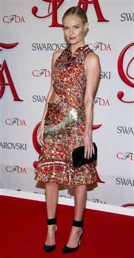 "<div class=""meta image-caption""><div class=""origin-logo origin-image ""><span></span></div><span class=""caption-text"">Kate Bosworth arrives at the CFDA Fashion Awards on Monday, June 4, 2012 in New York. (Photo by Charles Sykes/Invision/AP) (Photo/Charles Sykes)</span></div>"