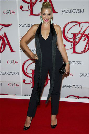 "<div class=""meta image-caption""><div class=""origin-logo origin-image ""><span></span></div><span class=""caption-text"">Busy Philipps arrives at the CFDA Fashion Awards on Monday, June 4, 2012 in New York. (Photo by Charles Sykes/Invision/AP) (Photo/Charles Sykes)</span></div>"
