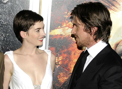 "<div class=""meta image-caption""><div class=""origin-logo origin-image ""><span></span></div><span class=""caption-text"">Cast members Anne Hathaway and Christian Bale attend the world premiere of ""The Dark Knight Rises"" at the AMC Lincoln Square Theater on Monday July 16, 2012 in New York. (Photo by Evan Agostini/Invision/AP) (Photo/Evan Agostini)</span></div>"