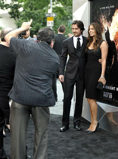 Actor Christian Bale and wife Sibi Blazic  attend the world premiere of &#34;The Dark Knight Rises&#34; at the AMC Lincoln Square Theater on Monday July 16, 2012 in New York. &#40;Photo by Evan Agostini&#47;Invision&#47;AP&#41; <span class=meta>(Photo&#47;Evan Agostini)</span>