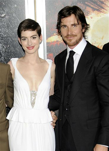 Actors Anne Hathaway and Christian Bale attend the world premiere of &#34;The Dark Knight Rises&#34; at the AMC Lincoln Square Theater on Monday July 16, 2012 in New York. &#40;Photo by Evan Agostini&#47;Invision&#47;AP&#41; <span class=meta>(Photo&#47;Evan Agostini)</span>