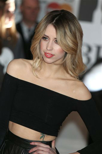 Peaches Geldof arrives at the BRIT Awards 2014 at the O2 Arena in London on Wednesday, Feb. 19, 2014.   The 25-year-old daughter of entertainer Bob Geldof died suddenly on April 7, 2014. (Photo by Jon Furniss Photography/Invision/AP)
