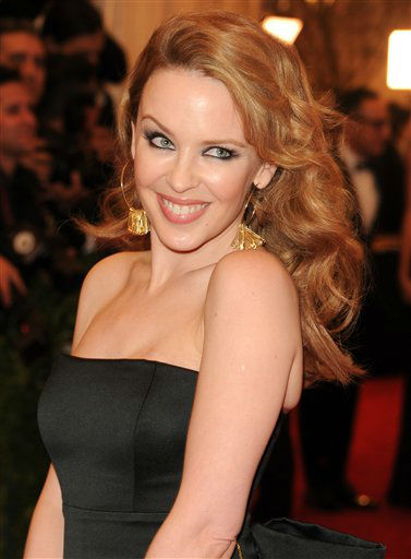 "Singer Kylie Minogue attend The Metropolitan Museum of Art Costume Institute gala benefit, ""Punk: Chaos to Couture"", on Monday, May 6, 2013 in New York. (Photo by Evan Agostini/Invision/AP)"