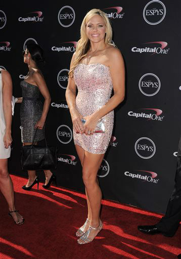 Softball player Jennie Finch arrives at the ESPY Awards on Wednesday, July 17, 2013, at Nokia Theater in Los Angeles. &#40;Photo by Jordan Strauss&#47;Invision&#47;AP&#41; <span class=meta>(Photo&#47;Jordan Strauss)</span>