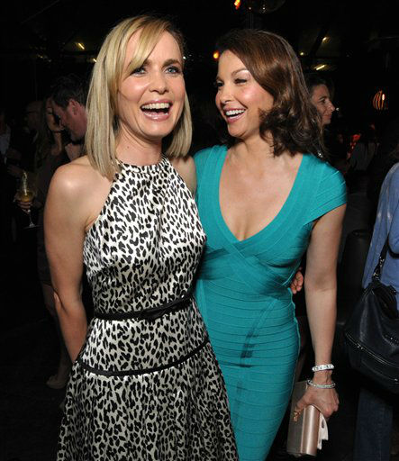 Radha Mitchell, left, and Ashley Judd attend the after party for the premiere of &#34;Olympus Has Fallen&#34; at Lure on Monday, March 18, 2013 in Los Angeles. &#40;Photo by John Shearer&#47;Invision&#47;AP&#41; <span class=meta>(Photo&#47;John Shearer)</span>