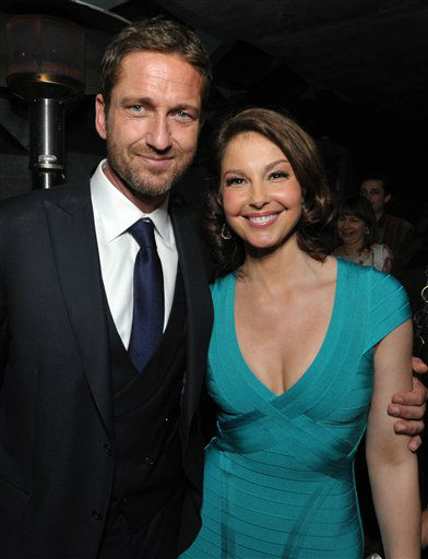 Gerard Butler, left, and Ashley Judd attend the after party for the premiere of &#34;Olympus Has Fallen&#34; at Lure on Monday, March 18, 2013 in Los Angeles. &#40;Photo by John Shearer&#47;Invision&#47;AP&#41; <span class=meta>(Photo&#47;John Shearer)</span>