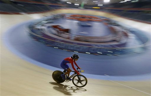 Cuba&#39;s Lisandra Guerra trains for the 2012 Summer Olympics, Wednesday, July 25, 2012, in London. &#40;AP Photo&#47;Sergey Ponomarev&#41; <span class=meta>(AP Photo&#47; Sergey Ponomarev)</span>