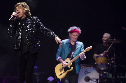 Mick Jagger, from left, Keith Richards and Charlie Watts of The Rolling Stones perform in concert on Saturday, Dec. 8, 2012 in New York. &#40;Photo by Charles Sykes&#47;Invision&#47;AP&#41; <span class=meta>(Photo&#47;Charles Sykes)</span>