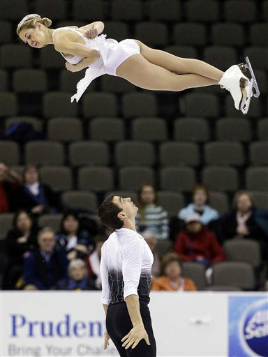 Alexa Scimeca and Christopher Knierim compete in the senior pairs short program at the U.S. figure skating championships in Omaha, Neb., Thursday, Jan. 24, 2013. &#40;AP Photo&#47;Nati Harnik&#41; <span class=meta>(AP Photo&#47; Nati Harnik)</span>