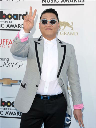 "<div class=""meta image-caption""><div class=""origin-logo origin-image ""><span></span></div><span class=""caption-text"">Psy arrives at the Billboard Music Awards at the MGM Grand Garden Arena on Sunday, May 19, 2013 in Las Vegas. (Photo by John Shearer/Invision/AP) (AP Photo/ John Shearer)</span></div>"