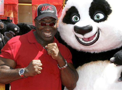 In this Sunday, June 1, 2008 photo, actor Michael Clarke Duncan poses with &#34;Kung Fu Panda&#34; at the premiere of the movie in the Hollywood area of Los Angeles. Duncan has died at the age of 54 on Monday, Sept. 3, 2012 in a Los Angeles hospital after nearly two months of treatment following a July 13, 2012 heart attack, his fiancee, the Rev. Omarosa Manigault, said. &#40;AP Photo&#47;Gus Ruelas&#41; <span class=meta>(AP Photo&#47; Gus Ruelas)</span>