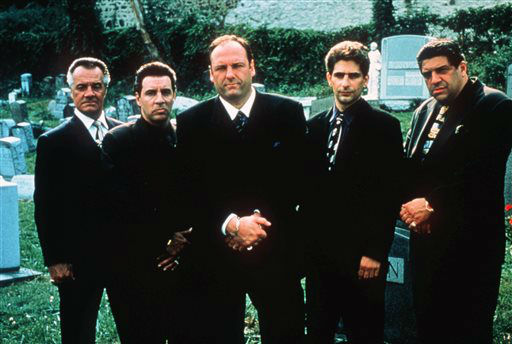 "<div class=""meta image-caption""><div class=""origin-logo origin-image ""><span></span></div><span class=""caption-text"">FILE - This undated publicity image released by HBO shows, from left, Tony Sirico, Steven Van Zandt, James Gandolfini, Michael Imperioli and Vicint Pastore,from the HBO drama series ""The Sopranos.""  HBO and the managers for Gandolfini say the actor died Wednesday, June 19, 2013, in Italy. He was 51. (AP Photo/HBO, Anthony Neste, file) (AP Photo/ ANTHONY NESTE)</span></div>"
