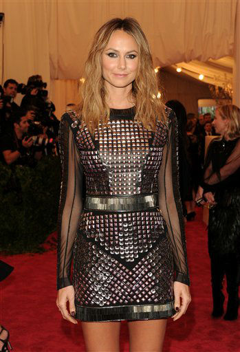 "Stacy Keibler attends The Metropolitan Museum of Art Costume Institute gala benefit, ""Punk: Chaos to Couture"", on Monday, May 6, 2013 in New York. (Photo by Evan Agostini/Invision/AP)"