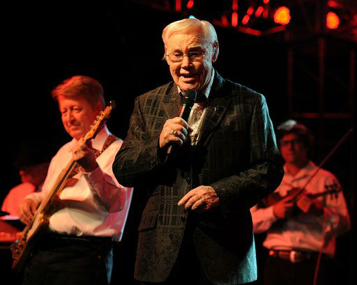 George Jones performs at the Seminole Casino Coconut Creek on February 9, 2012 in Coconut Creek, Florida. (Photo by Jeff Daly/Invision/AP)