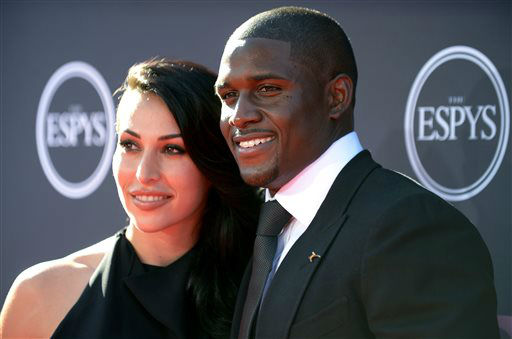 Detroit Lions&#39; Reggie Bush, right, and Lilit Avagyan arrive at the ESPY Awards on Wednesday, July 17, 2013, at Nokia Theater in Los Angeles. &#40;Photo by Jordan Strauss&#47;Invision&#47;AP&#41; <span class=meta>(Photo&#47;Jordan Strauss)</span>
