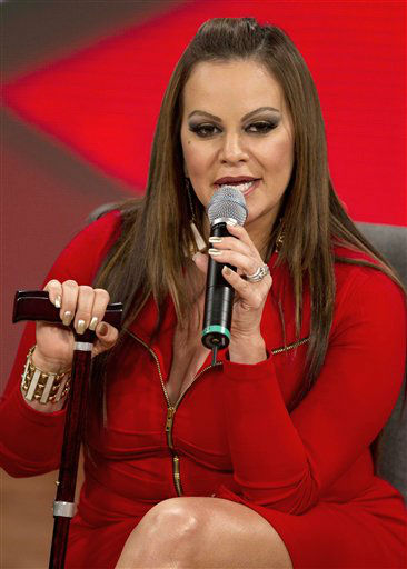 Mexican singer and singing coach Jenni Rivera speaks during a press conference promoting the second season of reality show, &#34;La Voz Mexico&#34; in Mexico City, Tuesday, Aug. 21, 2012. &#40;AP Photo&#47;Eduardo Verdugo&#41; <span class=meta>(AP Photo&#47; Eduardo Verdugo)</span>