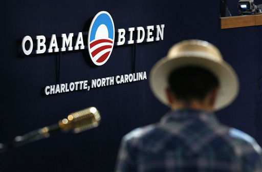 "<div class=""meta image-caption""><div class=""origin-logo origin-image ""><span></span></div><span class=""caption-text"">D.J. Cassidy prepares his equipment at the Democratic National Convention in Charlotte, N.C., on Tuesday, Sept. 4, 2012. (AP Photo/Jae C. Hong) (AP Photo/ Jae C. Hong)</span></div>"