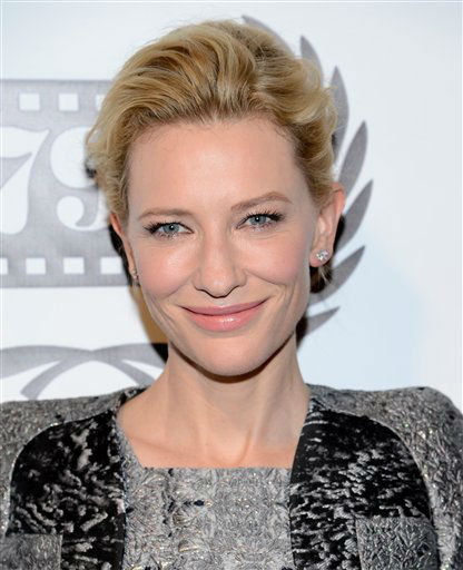Actress Cate Blanchett attends the 79th Annual New York Film Critics Circle Awards at the Edison Ballroom on Monday, Jan. 6, 2014 in New York. (Photo by Evan Agostini/Invision/AP)