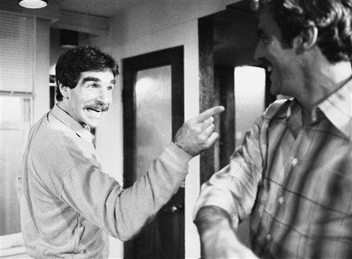 FILE - In this Nov. 11, 1979 file photo, Harry Reems rehearses for his legitimate theater debut in an Off-Broadway comedy-drama, &#34;The Office Murders,&#34; in New York. Reems, the former porn star who co-starred in the 1972 movie &#34;Deep Throat,&#34; died Tuesday, March 19, 2013 in Slat Lake City.  He was 65. &#40;AP Photo&#47;Ron Frehm, File&#41; <span class=meta>(AP Photo&#47; RON FREHM)</span>