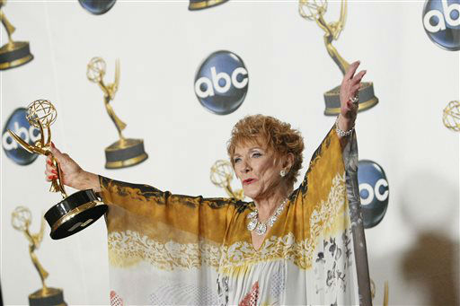 FILE - In this June 8, 2008 file photo, Jeanne Cooper poses with her award for outstanding lead actress in a drama series for her work on ?The Young and the Restless&#34; at the 35th Annual Daytime Emmy Awards in Los Angeles. CBS says soap opera star  Cooper has died. She was 84.  Cooper played grande dame Katherine Chancellor on CBS&#39; &#34;The Young and the Restless&#34; for nearly four decades.  &#40;AP Photo&#47;Dan Steinberg, File&#41; <span class=meta>(AP Photo&#47; Dan Steinberg)</span>