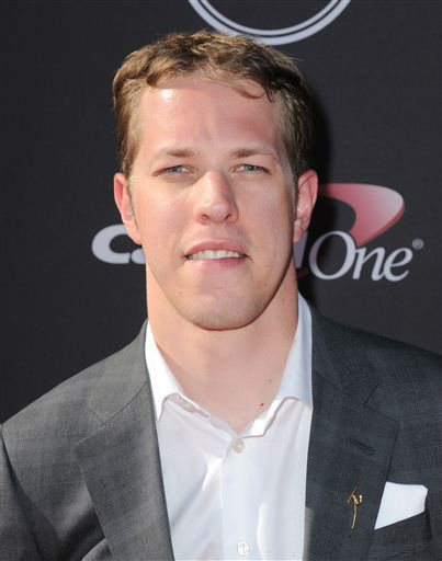 NASCAR driver Brad Keselowski arrives at the ESPY Awards on Wednesday, July 17, 2013, at Nokia Theater in Los Angeles. &#40;Photo by Jordan Strauss&#47;Invision&#47;AP&#41; <span class=meta>(Photo&#47;Jordan Strauss)</span>