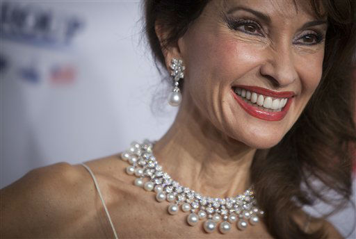 Susan Lucci arrives for the Elton John AIDS Foundation&#39;s 12th Annual &#34;An Enduring Vision&#34; benefit gala at Cipriani Wall Street on Tuesday, Oct. 15, 2013 in New York. &#40;Photo by Carlo Allegri&#47;Invision&#47;AP&#41; <span class=meta>(Photo&#47;Carlo Allegri)</span>