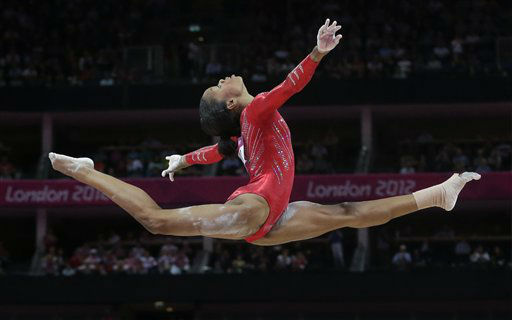 "<div class=""meta ""><span class=""caption-text "">U.S. gymnast Gabrielle Douglas performs on the balance beam during the Artistic Gymnastics women's team final at the 2012 Summer Olympics, Tuesday, July 31, 2012, in London. (AP Photo/Julie Jacobson) (AP Photo/ Julie Jacobson)</span></div>"