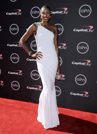 "<div class=""meta image-caption""><div class=""origin-logo origin-image ""><span></span></div><span class=""caption-text"">Former WNBA player Lisa Leslie arrives at the ESPY Awards on Wednesday, July 17, 2013, at Nokia Theater in Los Angeles. (Photo by Jordan Strauss/Invision/AP) (Photo/Jordan Strauss)</span></div>"