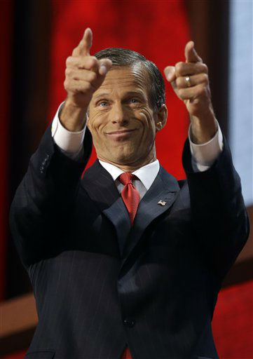 South Dakota Senator John Thune gestures to the delegates during the Republican National Convention in Tampa, Fla., on Wednesday, Aug. 29, 2012.  &#40;AP Photo&#47;Charles Dharapak&#41; <span class=meta>(AP Photo&#47; Charles Dharapak)</span>