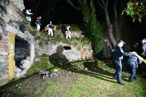 "<div class=""meta ""><span class=""caption-text "">Police officers search for missing New York City woman Sarai Sierra near the remnants of some ancient city walls in low-income district of Sarayburnu in Istanbul, Turkey, late Saturday, Feb. 2, 2013. Turkey's state-run news agency said that she has been found dead in Istanbul and police have detained nine people in connection with the case. Sierra, a 33-year-old mother of two, went missing while vacationing alone in Istanbul. Her body was discovered late Saturday near the remnants. (AP Photo) (AP Photo/ Uncredited)</span></div>"