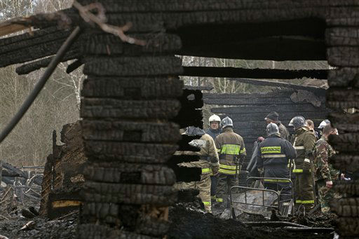 "<div class=""meta ""><span class=""caption-text "">Ministry for Emergency Situations workers and fire fighters work at the site of a fire at a psychiatric hospital Friday morning, April 26, 2013. A fire raged through a psychiatric hospital outside Moscow early Friday, killing 38 people, including two nurses, emergency officials said. Police said the fire, which broke out at about 2 a.m. local time (7 p.m. Eastern, 2300 GMT) in the one-story hospital in the Ramenskoye settlement, was caused by a short circuit. (AP Photo/Pavel Sergeyev) (AP Photo/ Pavel Sergeyev)</span></div>"