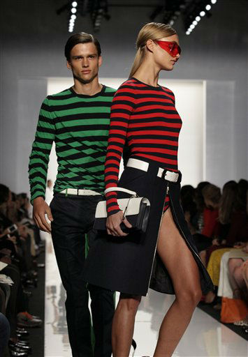The Michael Kors Spring 2013 collection is modeled during Fashion Week in New York,  Wednesday, Sept. 12, 2012. &#40;AP Photo&#47;Richard Drew&#41; <span class=meta>(AP Photo&#47; Richard Drew)</span>