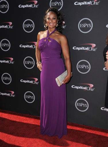 Laila Ali arrives at the ESPY Awards on Wednesday, July 17, 2013, at Nokia Theater in Los Angeles. &#40;Photo by Jordan Strauss&#47;Invision&#47;AP&#41; <span class=meta>(Photo&#47;Jordan Strauss)</span>