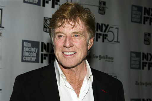 "<div class=""meta image-caption""><div class=""origin-logo origin-image ""><span></span></div><span class=""caption-text"">FILE - This Oct. 8, 2013 file photo shows actor Robert Redford at the New York Film Festival screening of ""All Is Lost"" in New York. Redford was nominated for a Golden Globe for best actor in a motion picture drama for his role in the film on Thursday, Dec. 12, 2013.  The 71st annual Golden Globes will air on Sunday, Jan. 12. (Photo by Charles Sykes/Invision/AP, File) (Photo/Charles Sykes)</span></div>"
