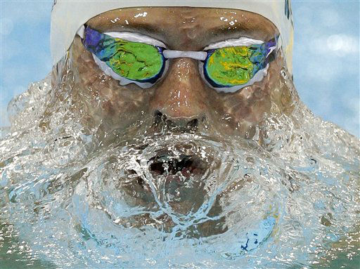 United States&#39; Scott Weltz competes in a men&#39;s 200-meter breaststroke swimming heat at the Aquatics Centre in the Olympic Park during the 2012 Summer Olympics in London, Tuesday, July 31, 2012. &#40;AP Photo&#47;Michael Sohn&#41; <span class=meta>(AP Photo&#47; Michael Sohn)</span>